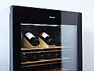 miele built-in wine cooler with tinted safety glass