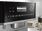 closeup of the miele freestanding countertop coffee machine to showcase individual settings