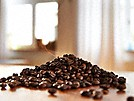 pile of coffee beans for the miele freestanding countertop coffee machine