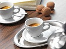 two cups of ristretto made with the miele freestanding countertop coffee machine CM 5300
