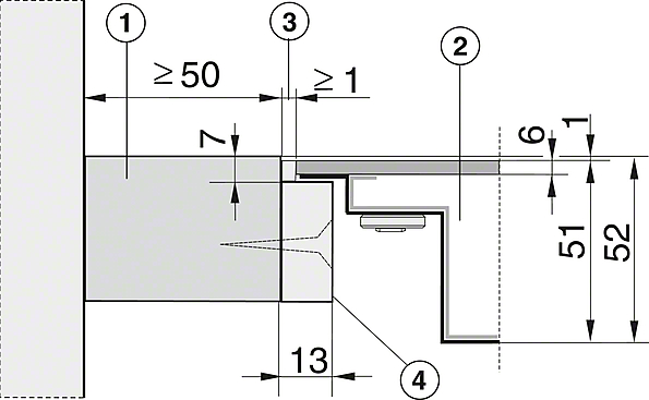 Installation drawings-with PowerFlex cooking zone for maximum versatility and performance.-