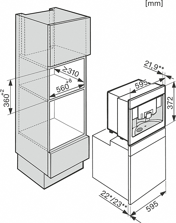 Installation drawings-with Nespresso system for uncomplicated convenience and enjoyment in capsules.-