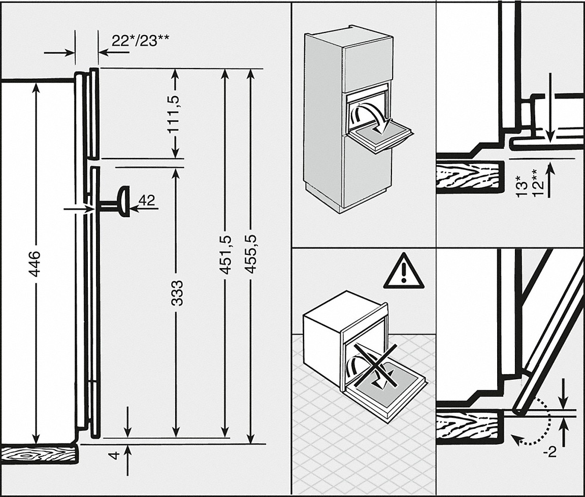 installation drawings with combination cooking and automatic programmes for perfect cooking results - Versand Container Huser Plne Pdf