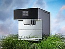 Miele Freestanding Countertop Coffee Machine on a patch of grass to indicate eco mode