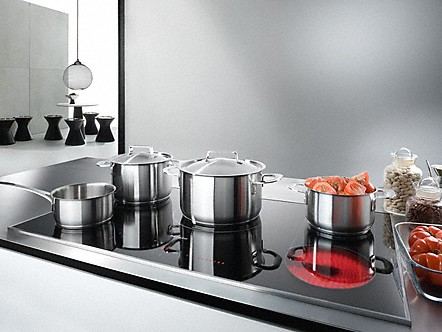 Miele Oven-Controlled Electric Hob with cooking pots