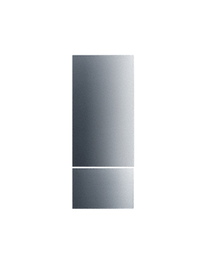 KFP1483ss - Stainless steel front for an elegant finish on MasterCool fridge/freezer combinations.--Stainless steel