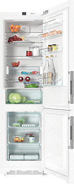 KFN 29233 D ws - XL freestanding fridge freezer with DailyFresh and Frost free for more freshness and highest convenience.--White