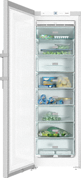 FN 28262 edt/cs - Freestanding freezer with Frost free and lever handle for convenient side-by-side combination.--Stainless steel/CleanSteel