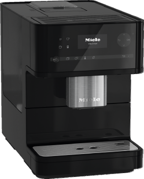 CM 6150 - Countertop coffee machine With OneTouch for Two for the ultimate in coffee enjoyment.--Obsidian black