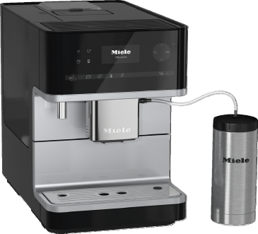 CM 6350 - Countertop coffee machine with OneTouch for Two feature and heated cup rack for perfect coffee.--Obsidian black