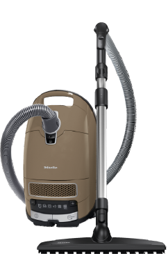 Complete C3 Power Parquet 1600 W - SGSC1 - Cylinder vacuum cleaner with protective parquet floorhead for first-class care of delicate hard floors.--Almond brown