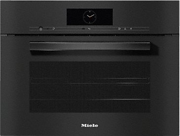 DGC 7840 - XL Steam combination oven for steam cooking, baking, roasting with wireless food probe + menu cooking.--Obsidian black
