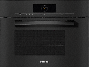 DGM 7840 - Steam oven with microwave for healthy cooking & rapid heating-up with networking, menu cooking + M Touch.--Obsidian black