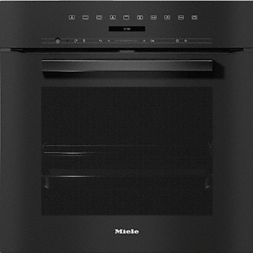H 7264 BP - Oven seamless design with clear text, networking & pyrolytic cleaning.--Obsidian black