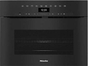 H 7440 BMX - Handleless microwave combination oven with a seamless design, automatic programmes and combination modes.--Obsidian black